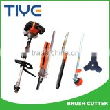 Gasoline multi 4 in 1 brush cutter , grass trimmer , pole saw for pruning branches, hedge trimmer