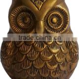brass owl sculpture