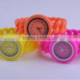 twist silicone watch with interchangeable band