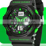 New Men's Fashion Military Digital Dual Movement Mens Sports Swimming Dive Watches 50M Waterproof