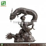 Chinese Bronze Dragon Water Fountain Sculpture