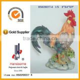 new fashion painting rooster garden statue yard deco art resin