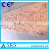 Horse red sandstone wall carving