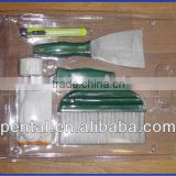 PT-DT-003 5PCS Set Of Paint Tool Wallpaper Brush/Roller/Scraper/Utility Knife/Ctton Yarn Glove
