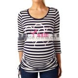 Cotton inner long sleeve plus size motherhood t shirt wholesale maternity