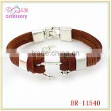 Charm Anchor Bracelets For Men Popular Bangle Handmade Leather Bracelets Hooks Sport Bracelets