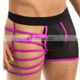 Sexy Erotic Gay Men Underwear Condom Transparent Side Bind Male Lingerie Cueca Boxer Jockstrap Cock Sock