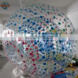 Transparent colorful Inflatable Zorb Ball Human Hamster Ball
