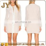 Ladies Lace Dresses Short Dresses With Long Sleeves One Piece Girls Party Lace Shirt Dresses