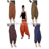 INDIAN ALIBABA HAREM YOGA MEN WOMEN TROUSERS BAGGY GYPSY BOHO HIPPIE GENIE PANTS
