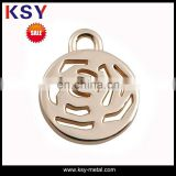 gold jewelry metal logo tag