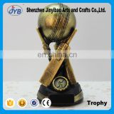 New creative design cheap price resin horsehide baseball trophy