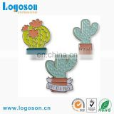 Hot Selling Promotional Gifts Custom Metal Cactus Shape Pin Badge