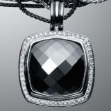 Sterling Silver DY Inspired 20mm Hematite Albion Pendant Enhancer