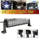 "super bright led lighting bar for trucks 14"" light bar with deutsh connector 72w spot flood combo beam"
