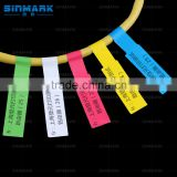 A4 color cable lable,SINMARK 2016 Most popular printer for stickers,custom printed roll labels,custom sticker design