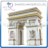Mini Qute 3D Wooden Puzzle Triumphal Arch world architecture famous building Adult kids model educational toy gift NO.JZ703