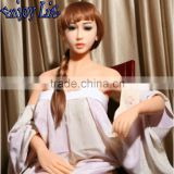 JYD07Y 165cm Brainded hair Lady Lifelike Silicone Solid Sex Dolls With Skeleton Vagina/Anal/Oral Sex Toys Pussy Pump