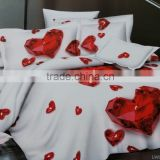 100%polyester microfiber disperse printing 3D printed luxury bed sheet set queen size duvet cover set