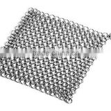 Cast Iron Cleaner Chainmail Scrubber, X-Large, Stainless Steel Kitchen & Dining Scrubber