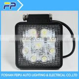 Auto parts China manufacturer wholesaler led light 27w square auto led driving fog lamp 10v-30v
