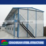 Glass wool sandwich panel prefabricated house worker dormitory