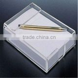 2013 hot new fantastic Acrylic notepaper holder with paper and ball pen