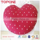 China manufacture cheap soft heart shape cushion for reading in bed
