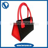2015 Color stitching handbags for women/silicon rubber handbags sale on Xm