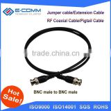 High quality RG58 20inch 50cm cable BNC male plug to BNC male plug Straight RF Coaxial Pigtail Jumper