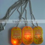 LED flashing dog tags with ball chains
