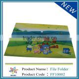 Kids cute White button PVC profile folders