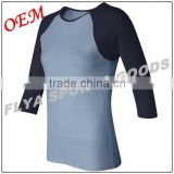 Adult Lightweight 100% Cotton Classic Fit 3/4 Sleeve Baseball Tee in 9 Colors