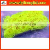 600 pcs per bag DIY loom band for Bracelets or Bangles with yellow colour