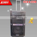 P-101 JERRY Best-selling rechargeable multifunction trolley speaker with USB/SD/FM/wireless mic, portable trolley speaker