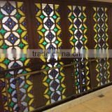 classic design carved solid wood partition screen