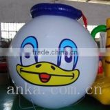 Cartoon character duck shaped inflatable helium balloons for kids                                                                                                         Supplier's Choice