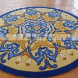 Flower Shaped Pink Bath Rugs, Handmade Decorative Rugs