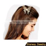 SW16533 Hot selling metal ladies fancy butterfly hair clips/