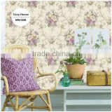 stock printing pvc coated wallpaper, paris purple royal damask wall decal for living walls , mould-proof wall mural pattern