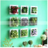 2016 new products ceramic square decorative garden wall flower pot                                                                                                         Supplier's Choice