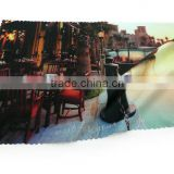 Changzhou manufacturer hot sale custom print microfiber glasses cleaning cloth manufactured in China