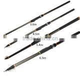 3.6m/4.5m/5.4m/6.3m Carbon Fiber Telescopic Spinning Casting Pole Saltwater Sea Fishing Rod Outdoor Travel Holiday Fishing Tools