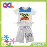 Cheap price made in china boy garments summer 2pcs set