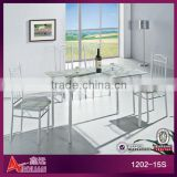 1202-15S Fashion Korean style domino marble top wood dining table