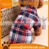 CS12 new 2016 fashion cut&sew pet dog plaid shirt wholesale                                                                         Quality Choice