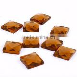 Hot sale Yiwu bulk sale square glass stone,factory wholesale machine cut glass stone