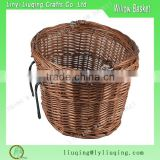 Oval Cheap Wicker bike basket/Willow bicycle basket/Brown wicker basket with handle