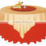 hotel polyester white round banquet wedding Table cloth Skirtless restaurant table cloth