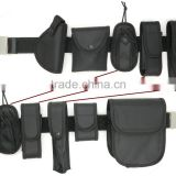 Black Utility Police Guard Security Kit Pouch System Tactical Belt